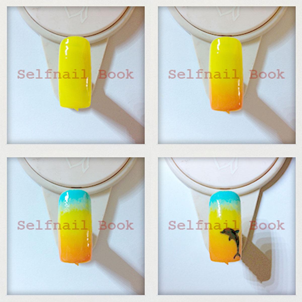 2色・3色使ったカラーグラデーションネイルのやり方