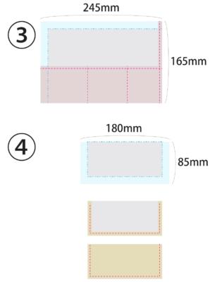 ネイル用ブラシケースの作り方|ニッパーも入る大きさ【展開図付き】6