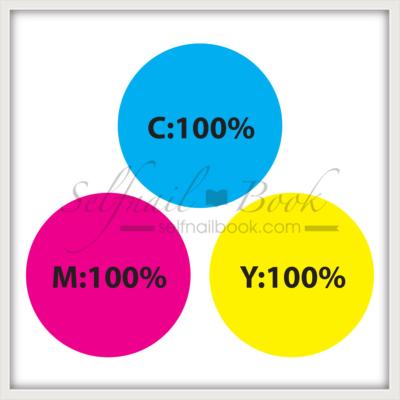 ジェルネイルのグレージュの作り方|三原色の混ぜる割合も解説1
