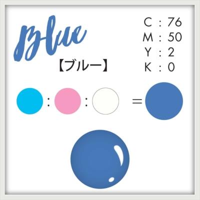 ベイクドカラーのネイル ブルー