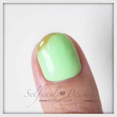 ニュアンスネイルグリーン5