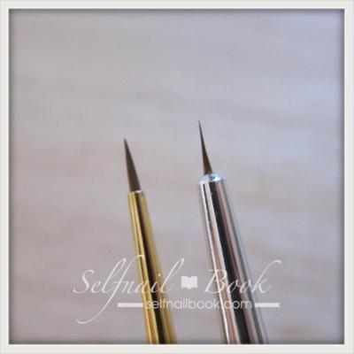 しずく筆とプロ用ネイル筆との比較2