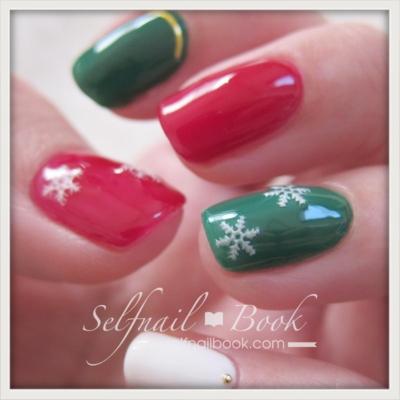 簡単クリスマスネイル3